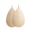 Gold Satin Leather Earrings | Nickel and Suede