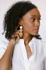 Metallic Ombre Dottie Leather Earrings   Nickel and Suede