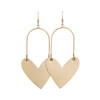 Gold Satin Sweetheart Hoop Leather Earrings | Nickel and Suede