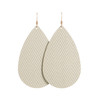 Soft Pearl Leather Earrings | Nickel and Suede