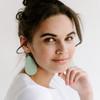 Nickel & Suede Leather Earrings | Minty Fresh