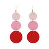 Dottie Ombre Pink Statement Leather Earrings | Nickel & Suede