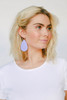 French Lilac Leather Earrings | Nickel & Suede