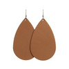 London Tan Leather Earrings | Nickel and Suede