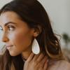 Shimmer Leather Earrings