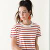 Leather Earrings | N&S Select Orange