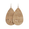 Gold Cork Teardrop Leather Earrings | Nickel and Suede