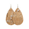Silver Cork Leather Earrings | Nickel and Suede