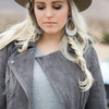 N&S Select Gray Leather Earrings