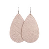 Rosé Leather Earrings | Nickel and Suede