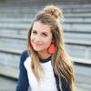 Nickel & Suede Leather Earrings │TEAM Orange