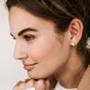 Nickel & Suede Stud Earrings   Teardrop Gold