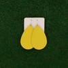 Nickel & Suede Leather Earrings │TEAM Yellow