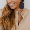 Nickel & Suede Leather Earrings | Baltic Row