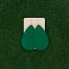Nickel & Suede Leather Earrings │TEAM Green