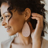 Leather Earrings | Bare Pink Blossom