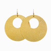 Gold Leaf Nova Leather Earrings | Nickel and Suede