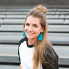 Nickel & Suede Leather Earrings │TEAM Teal
