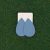 Nickel & Suede Leather Earrings │TEAM Sky Blue