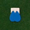 Nickel & Suede Leather Earrings │TEAM Light Blue