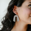 N&S Select Gray Beau Leather Earrings