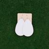 Nickel & Suede Leather Earrings │TEAM White