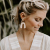 N&S Select Natural Beau Leather Earrings