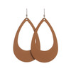 London Tan Cut-Out Leather Earrings | Nickel and Suede