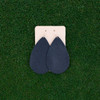 Nickel & Suede Leather Earrings │TEAM Navy