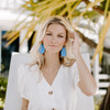 Santorini Leather Earrings