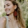 Cognac Leather Earrings | Nickel and Suede