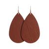 Cognac Leather Earrings   Nickel and Suede