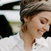 Tiger Cork Leather Earrings