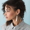 Nickel & Suede Leather Earrings │N&S Signature Silver Accent