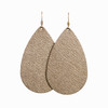 Bronze Leaf Leather Earring   Nickel and Suede