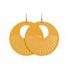 Select Gold Sunburst Nova Leather Earrings | Nickel & Suede