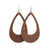 N&S Classics Leather Earrings Set   Nickel and Suede