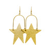 Superstar Gold Leather Earrings | Nickel and Suede