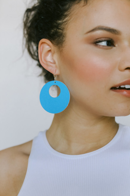 Capri Nova Leather Earrings