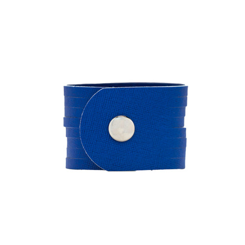 Ultramarine Slit Leather Cuff