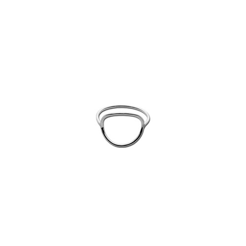 Open Circle Silver Ring