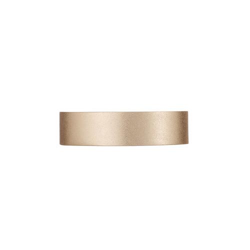 Gold Satin Thin Cuff | Nickel & Suede