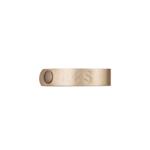 Gold Satin Thin Cuff | Nickel & Suede