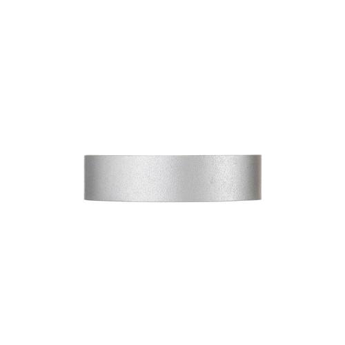 Silver Satin Thin Cuff   Nickel & Suede