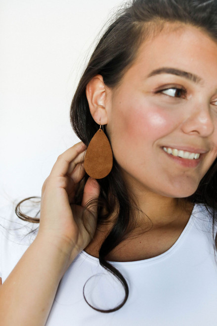 Tawny Suede Leather Earrings | Nickel and Suede