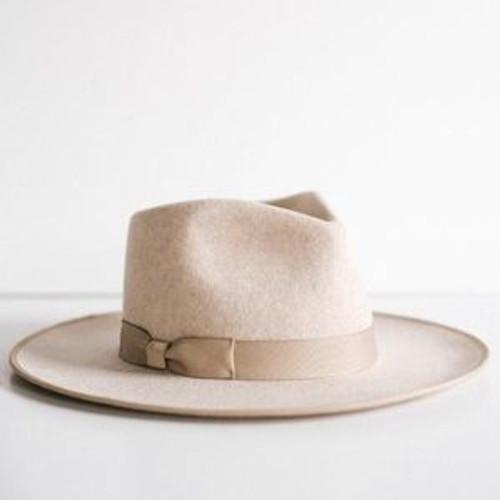Monroe Rancher Hat | Nickel & Suede
