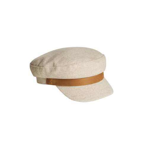James Felt Cap | Nickel & Suede