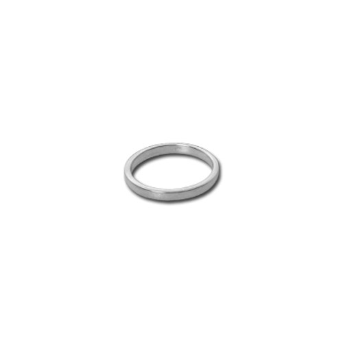 2mm Silver Band