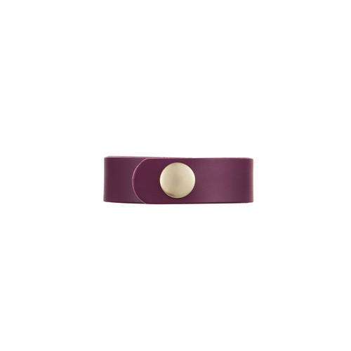 Burgundy Empowerment Thin Cuff | Nickel & Suede