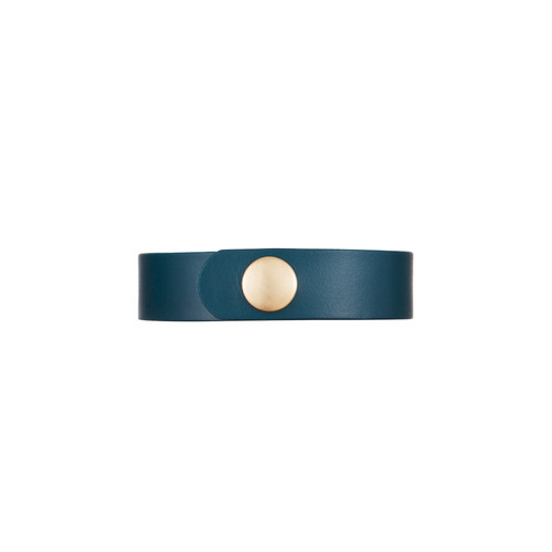 Royal Teal Empowerment Thin Cuff | Nickel & Suede